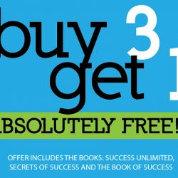 Pick up three amazing success books for the price of two